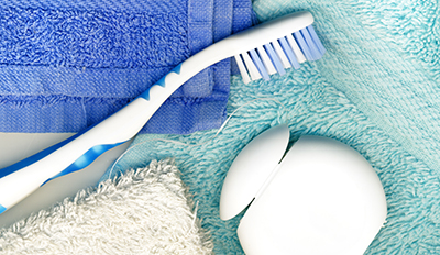 Tothbrush and bath towels